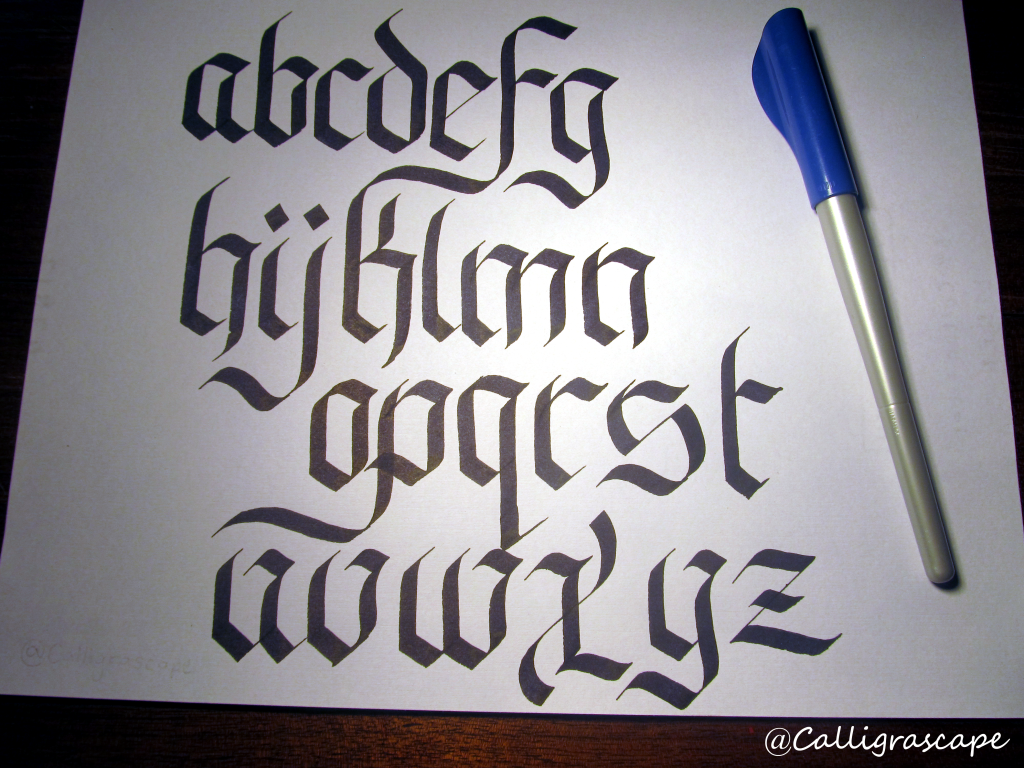 Learn how to write in calligraphy for free