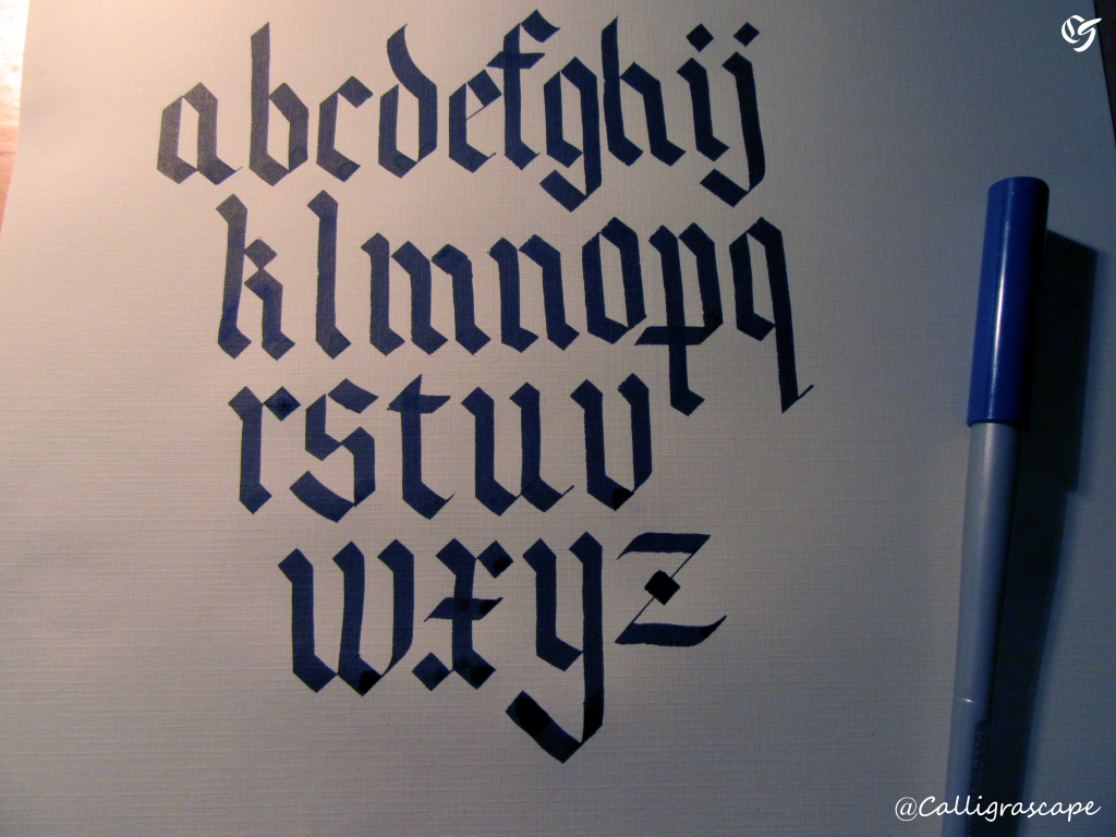 Blackletter gothic calligraphy for beginners basic strokes and